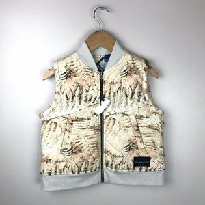 AGATHA CUB Boys 6-7 Reversible Quilted 2-Way Vest